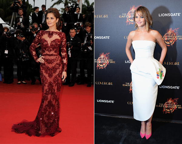 Cheryl Cole and Jennifer Lawrence at Cannes 2013 30 Random, Busty, And Sparkly Cannes Fashion Highlights