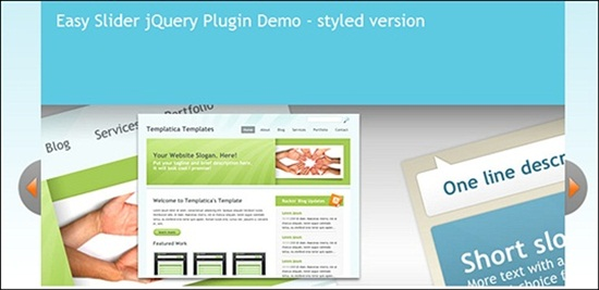 Easy Slider Top jQuery Slideshow and Image Gallery Plugins