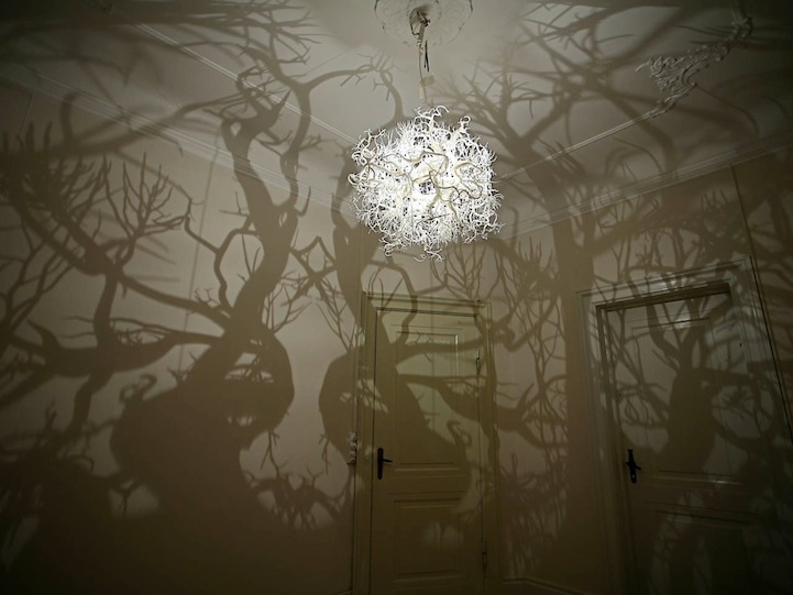 FormsInNature1 Chandelier Produces a Forest of Wild Tree Shadows