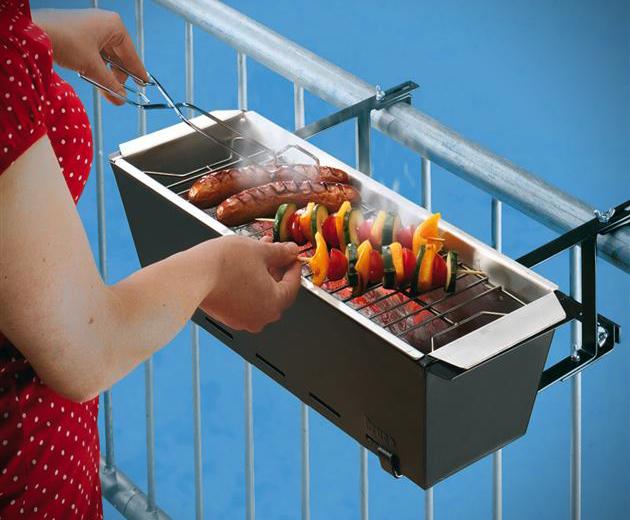 Grill Portable Handrail Barbecue