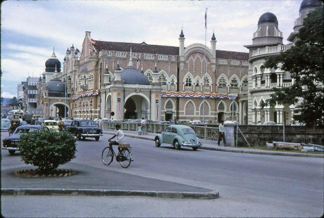 Kuala Lumpur 1964 3 650x438 Color Photos of Kuala Lumpur, Malaysia in 1964