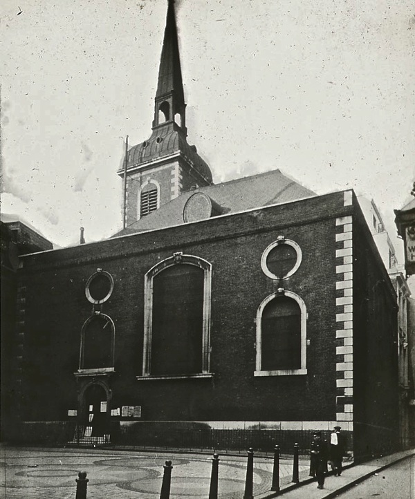 Old Photos of City Churches in London 4 Old Photos of City Churches in London A Century Ago