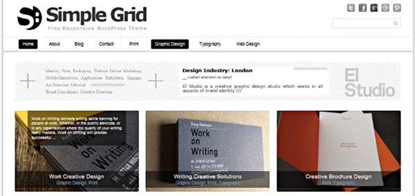 Simple Grid FREE: Simple Grid WordPress Theme