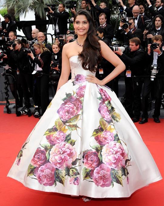 Sonam Kapoor 30 Random, Busty, And Sparkly Cannes Fashion Highlights