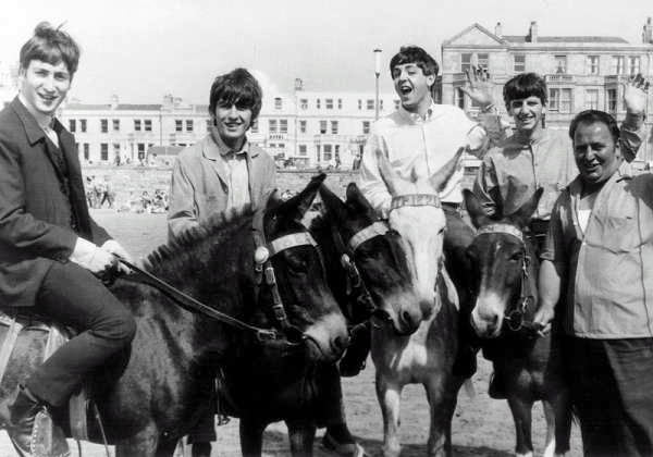 The Beatles on Donkeys 1963 1 The Beatles on Donkeys, 1963