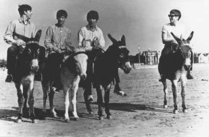 The Beatles on Donkeys 1963 4 The Beatles on Donkeys, 1963