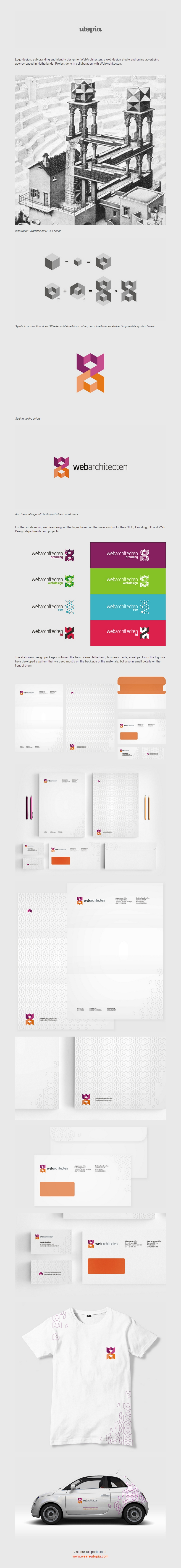 Web Architecten logo and corporate identity design by Utopia Branding Agency 2 Web Architecten logo and corporate identity design by Utopia Branding Agency