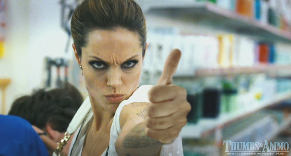 angelina thumb popof1 Movie Scene Guns replaced with a 'Thumbs Up'