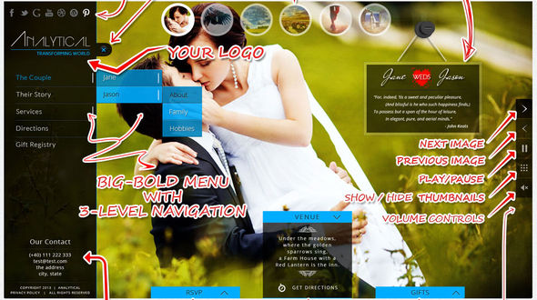 ba1b8335c9c5b0d1fe662f90d27c8b9411 Top 15 Premium WordPress Themes for a Wedding