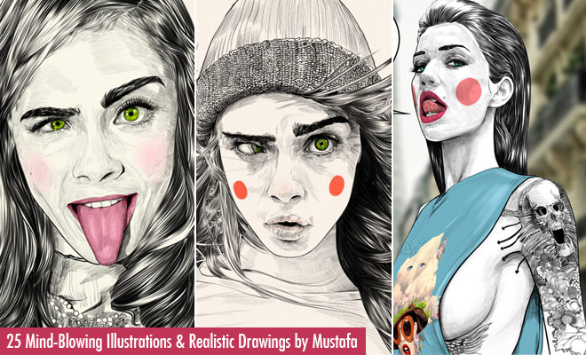 f626 25 Mind Blowing Fashion Illustrations and Realistic Drawings by Mustafa Soydan