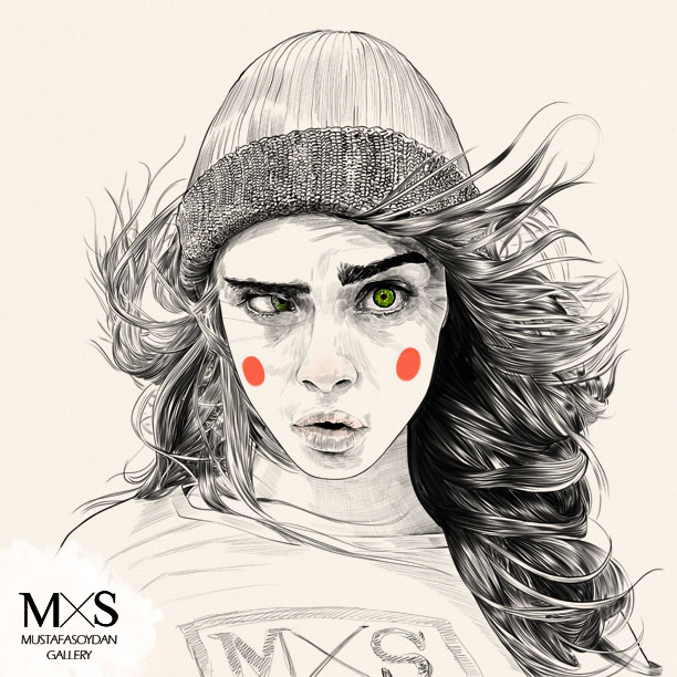 f627 25 Mind Blowing Fashion Illustrations and Realistic Drawings by Mustafa Soydan
