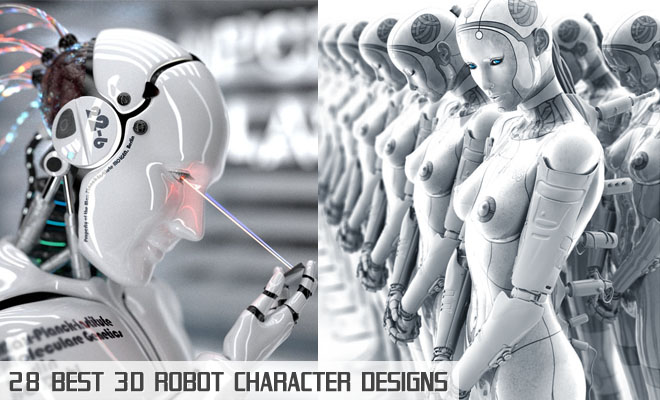 f675 28 Best Futuristic and Glamorous 3D Robot Character Designs for your inspiration