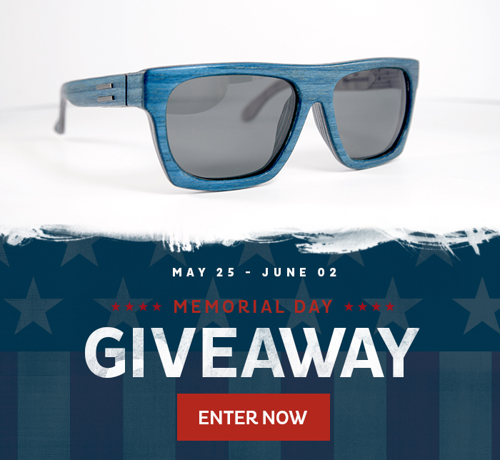 facebook post Win a pair of Wooden Sunglasses Handcrafted in the USA