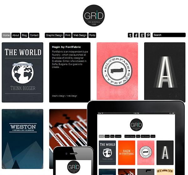 grid responsive theme FREE: Grid Theme