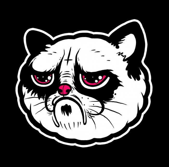 grumpy cat 650x641 Grumpy Cat Illustration by Daniel Hannih