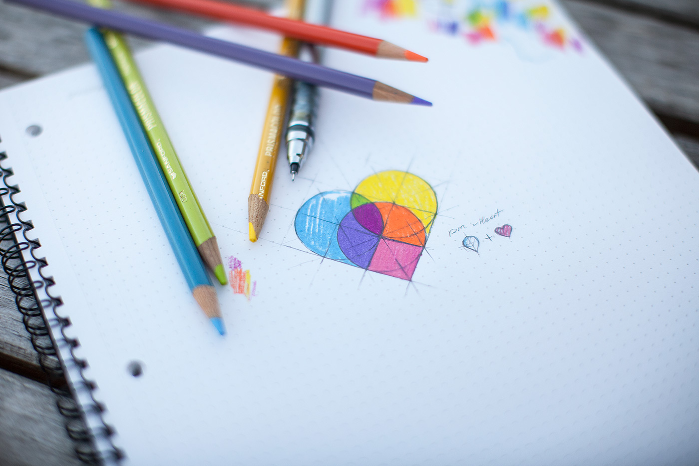 heartpinshd11 Beautiful Brainstorming: 25 Inspirational Icon Sketches