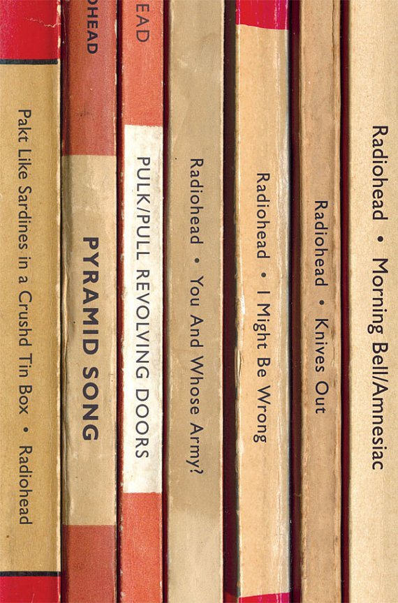 il 570xN.460218369 6sdr Radiohead Albums Reimagined as Vintage Paperback Books
