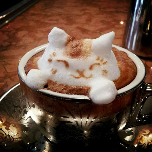 latte coffee art kazuki yamamoto 1 650x650 Latte Art by Kazuki Yamamoto