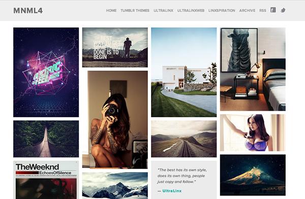 mnml41 45 Free Grid Based Tumblr Themes