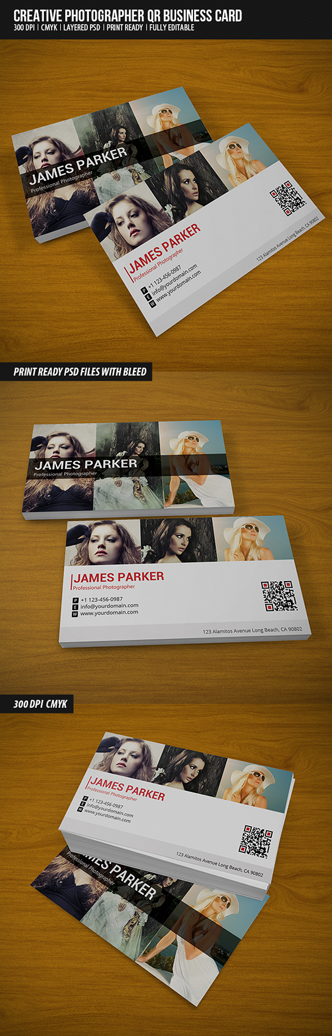 preview1 Creative Photographer QR Business Card