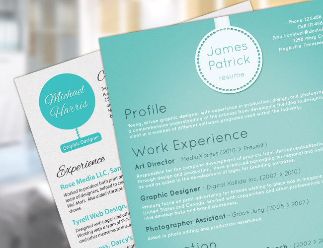 resume design Make Your Resume Pretty Without Having To Learn Photoshop