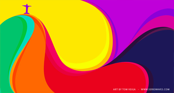 rio1 Killer Curves: Colorful Illustrations by Tom Veiga