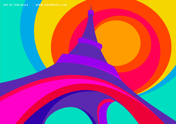 torre eiffel1 Killer Curves: Colorful Illustrations by Tom Veiga