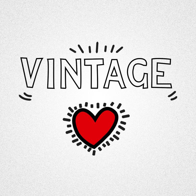 vintageness 03 vintage keith haring style 02 Vintage (Keith Haring style) t shirt. Vintageness collection
