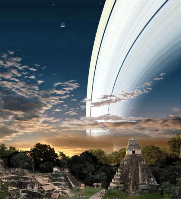 2 Earth Rings 600x661 Hypothetical Pics: If Earth Had a Ring Like Saturn