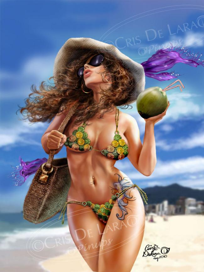 30 Beautiful Digital Art works and Pinup Illustrations by Cris Delara 01 @ GenCept 650x866 30 Beautiful Digital Art works and Pinup Illustrations by Cris Delara