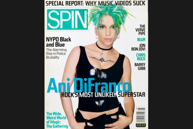 Ani DiFranco 97 08 spin cover 1 SPIN Magazine Covers of the 90s