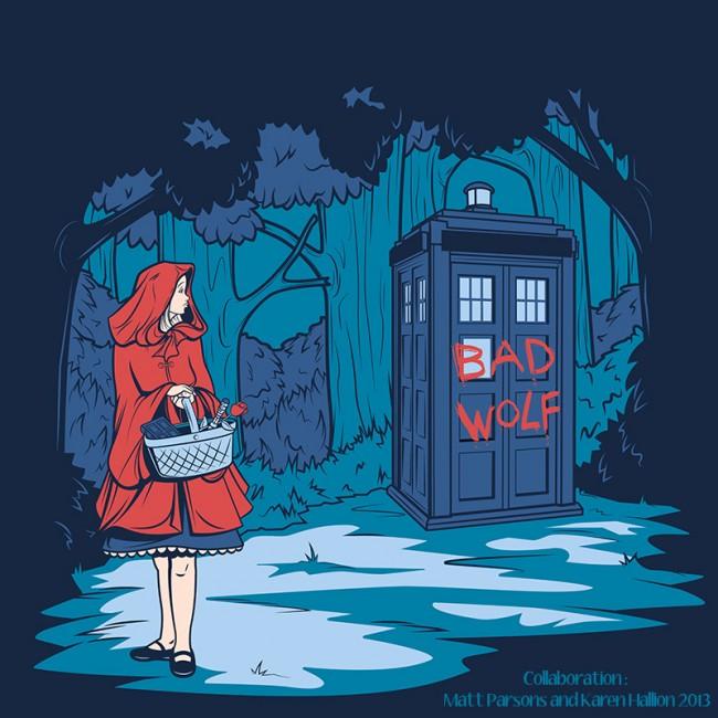 Disney Princesses TARDIS 3 650x650 Doctor Who Meets Disney Princesses