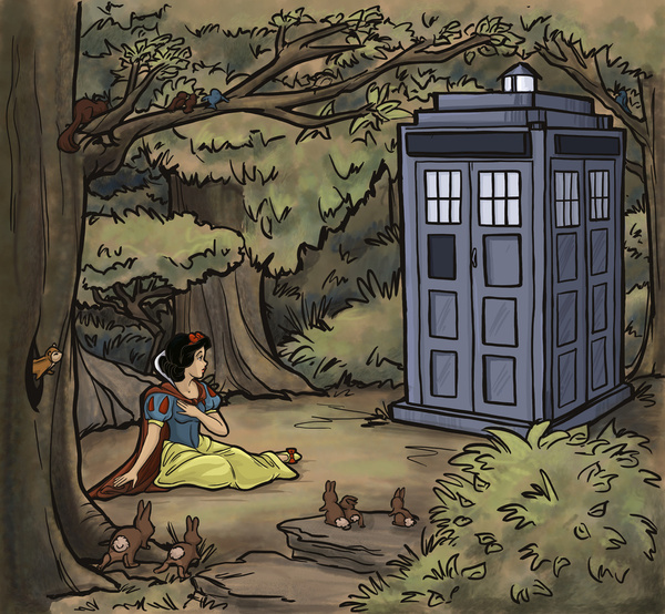 Disney Princesses TARDIS 5 Doctor Who Meets Disney Princesses
