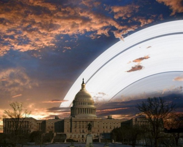 Earth Rings 600x481 Hypothetical Pics: If Earth Had a Ring Like Saturn