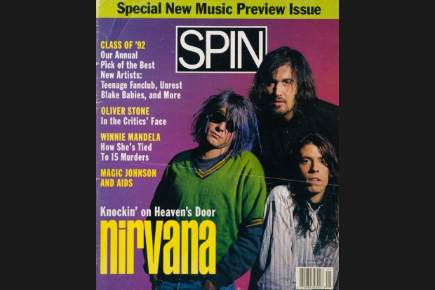 Nirvana 92 01 spin cover SPIN Magazine Covers of the 90s