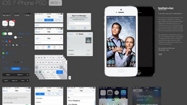 PSD gratuit iOS 7 650x366 Full Free PSD iOS 7 GUI
