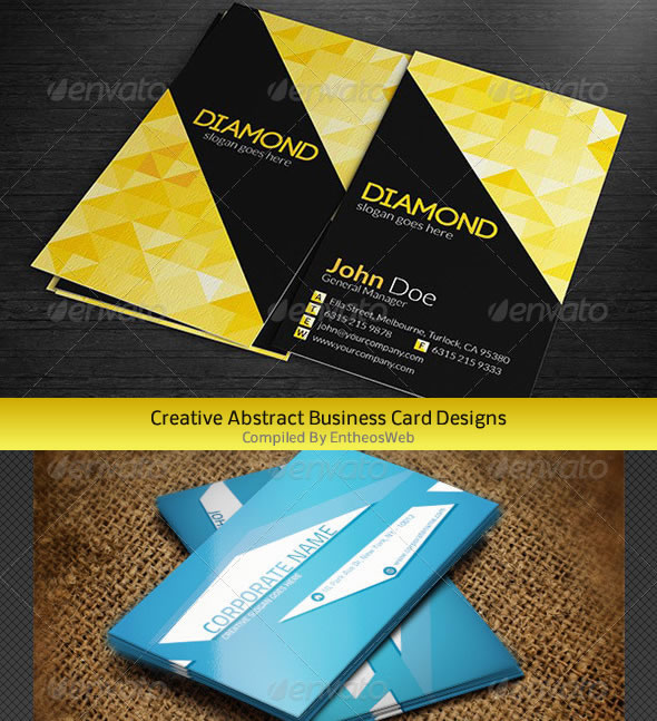 abstract bcfimg Creative Abstract Business Card Designs