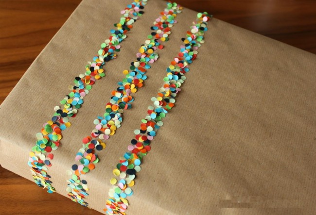 confetti 650x443 Examples Of Creative Gift Wrapping Vital For Success Of Online Gift Stores