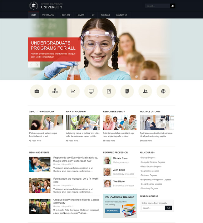 Sviesta ciba education joomla template 15 free and premium educational joomla templates maxwellsz