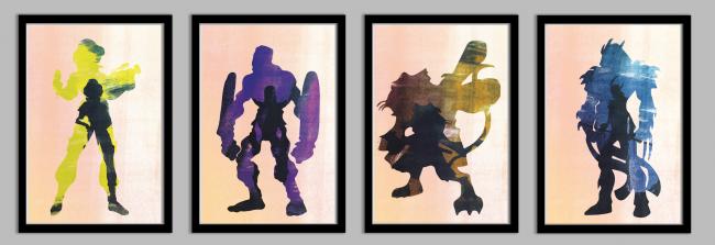 ninjaturtlesframedset2 650x223 Ninja Turtles Posters