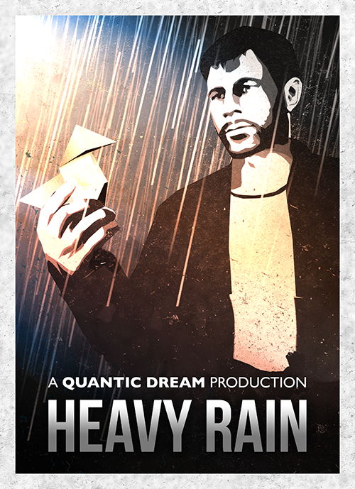 rain Video Game Posters