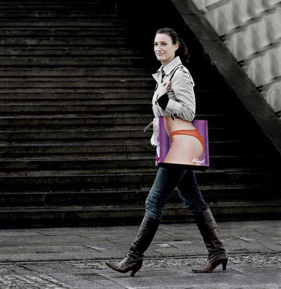 shopping bag ads xray11 25 Creative Shopping Bag Advertisements