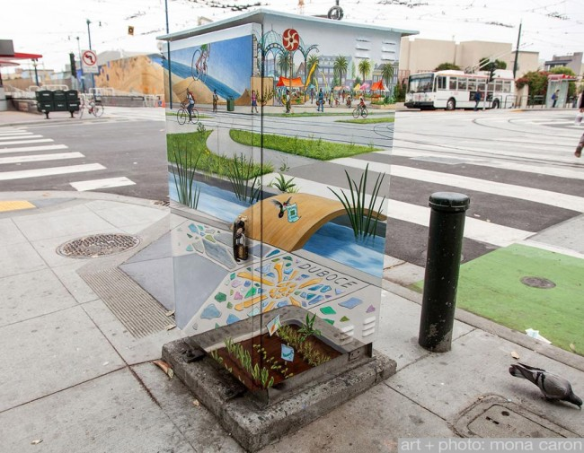 street art mural on electrical utility box 650x505 Electrical Utility Box Turned into a Work of Art
