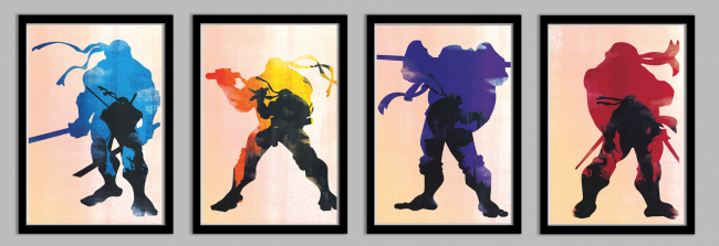 turtlesframed1 650x223 Ninja Turtles Posters