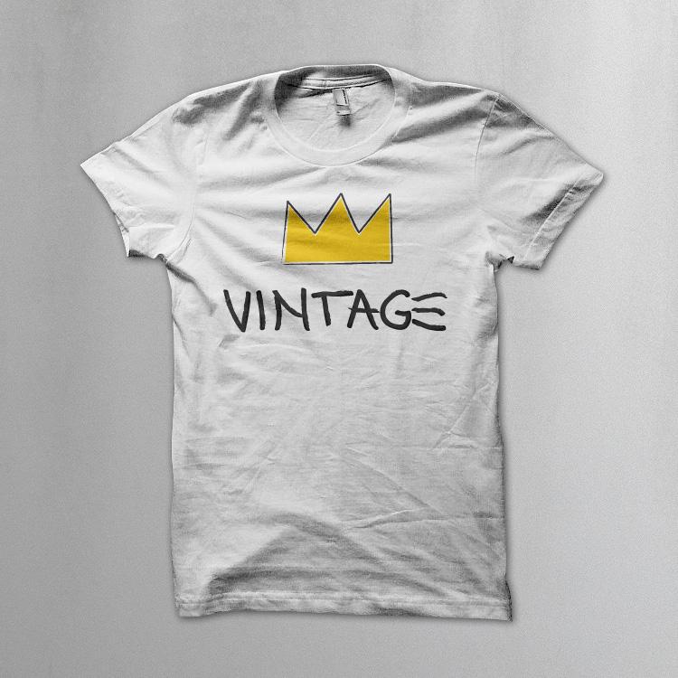 vintageness 04 vintage jean michel basquiat style Vintage (Jean Michel Basquiat style) t shirt. Vintageness collection