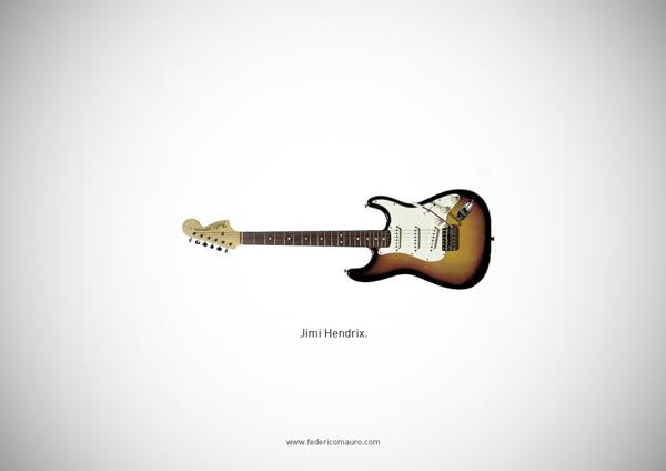 0d1a2b006a26e5ad6f51da172372c3c8 1 Famous Guitars by Federico Mauro