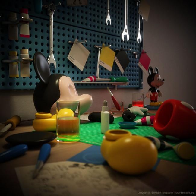 3693 650x650 Mickey Mouse by Davide Franceschini