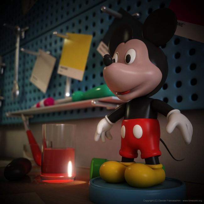 3713 650x650 Mickey Mouse by Davide Franceschini