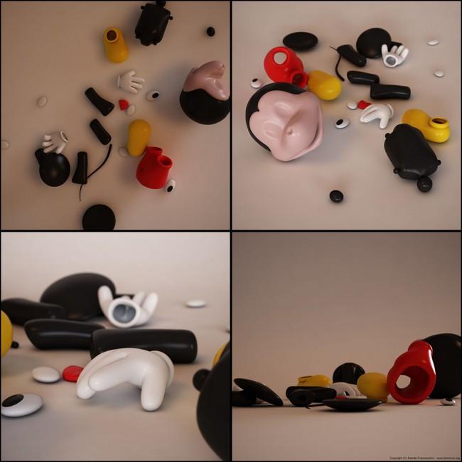 3743 650x650 Mickey Mouse by Davide Franceschini