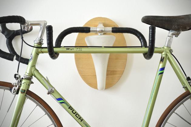 Bike9 Recycled Bicycle Parts Used as Bike Racks